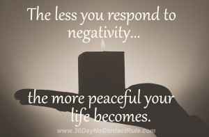 The Less You Respond To Negativity