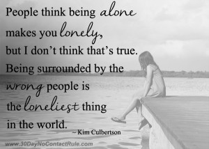 People Think Being Alone