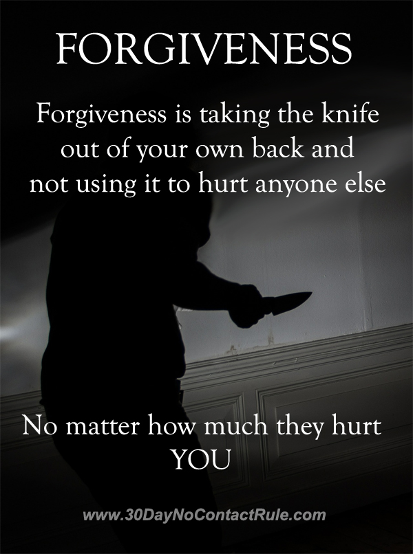 Forgiveness Is Not Hurting Others